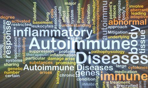 Autoimmune disease background concept glowing