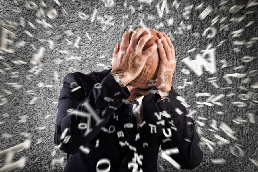 Businessman stunned by strong headache